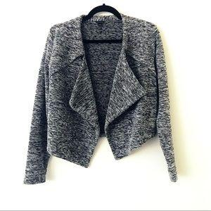 ANN TAYLOR Drape Front Marled Knit Blazer